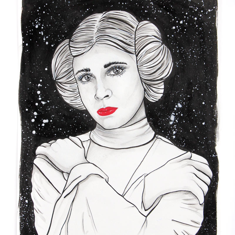 Princess Leia Illustration Star Wars
