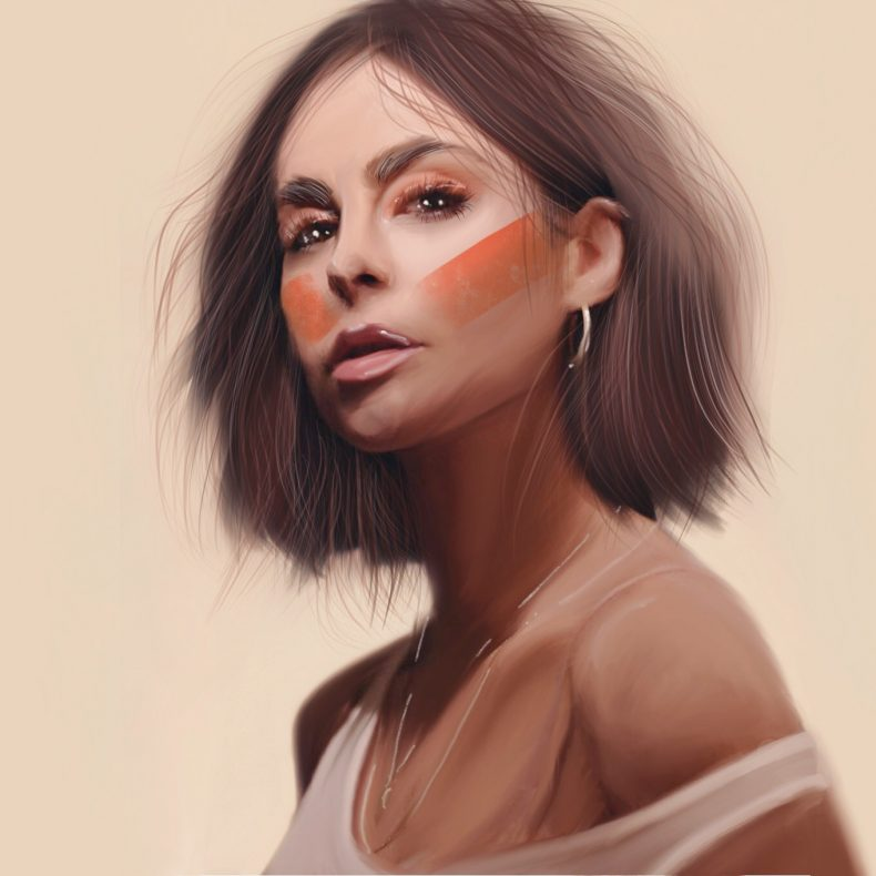 eigenes portrait illustration digital art lena mayer landruth