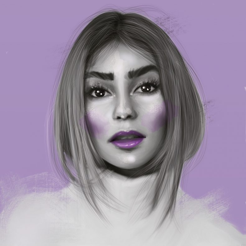 eigenes portrait illustration digital drawing stefanie giesinger
